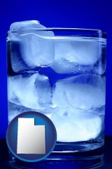 utah a glass of ice water