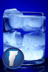 vermont a glass of ice water