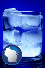 wisconsin a glass of ice water