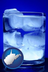 west-virginia a glass of ice water