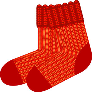 orange knit socks