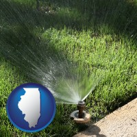 illinois a directional lawn sprinkler