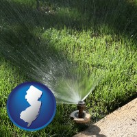 new-jersey a directional lawn sprinkler