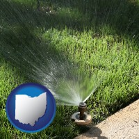 ohio a directional lawn sprinkler