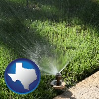 texas a directional lawn sprinkler