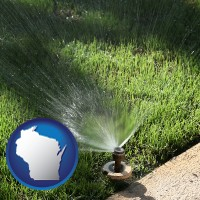 wisconsin a directional lawn sprinkler