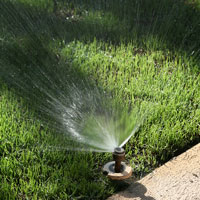 a directional lawn sprinkler