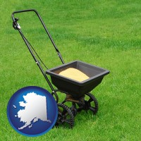 alaska a lawn fertilizer spreader
