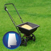 alabama a lawn fertilizer spreader