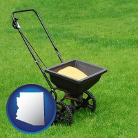 arizona a lawn fertilizer spreader