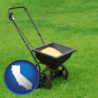 california a lawn fertilizer spreader