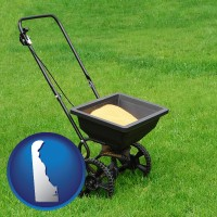 delaware a lawn fertilizer spreader
