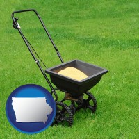 iowa a lawn fertilizer spreader