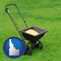 idaho a lawn fertilizer spreader