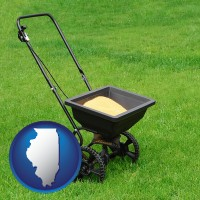 illinois a lawn fertilizer spreader