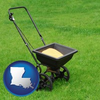 louisiana a lawn fertilizer spreader