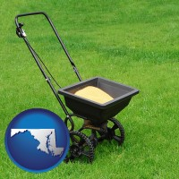 maryland a lawn fertilizer spreader
