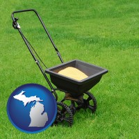 michigan a lawn fertilizer spreader