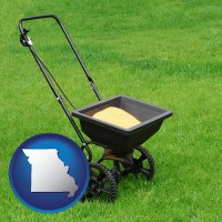 missouri a lawn fertilizer spreader