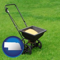 nebraska a lawn fertilizer spreader