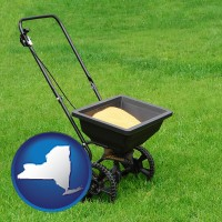 new-york a lawn fertilizer spreader