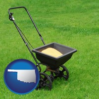 oklahoma a lawn fertilizer spreader