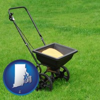 rhode-island a lawn fertilizer spreader