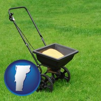 vermont a lawn fertilizer spreader