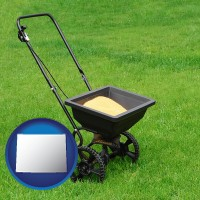 wyoming a lawn fertilizer spreader