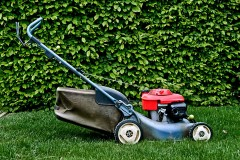 a power lawn mower