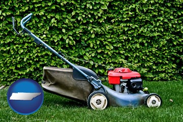 a power lawn mower - with Tennessee icon