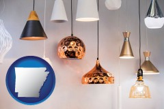 arkansas map icon and pendant lighting fixtures