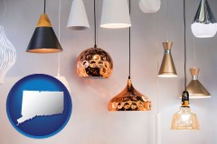 connecticut map icon and pendant lighting fixtures