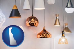 delaware map icon and pendant lighting fixtures