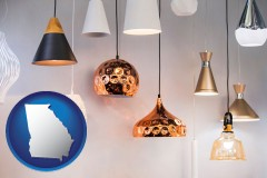 georgia map icon and pendant lighting fixtures