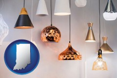 indiana map icon and pendant lighting fixtures