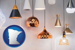 minnesota map icon and pendant lighting fixtures