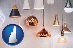 new-hampshire map icon and pendant lighting fixtures