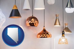 nevada map icon and pendant lighting fixtures