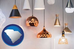 south-carolina map icon and pendant lighting fixtures