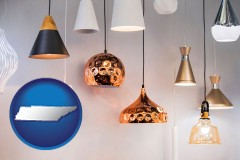 tennessee map icon and pendant lighting fixtures