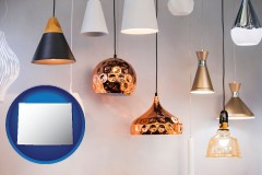 wyoming map icon and pendant lighting fixtures