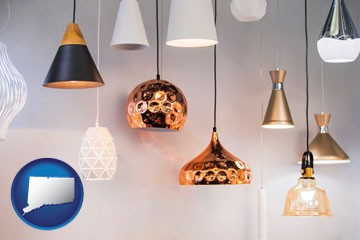 pendant lighting fixtures - with Connecticut icon