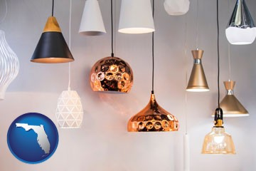pendant lighting fixtures - with Florida icon