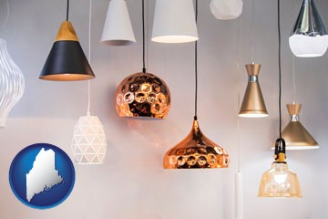 pendant lighting fixtures - with Maine icon