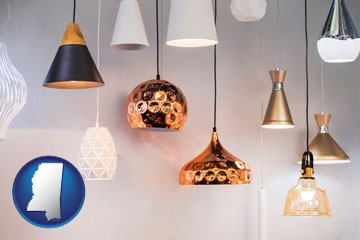 pendant lighting fixtures - with Mississippi icon