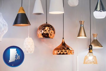 pendant lighting fixtures - with Rhode Island icon