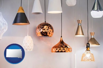 pendant lighting fixtures - with South Dakota icon