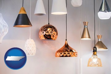 pendant lighting fixtures - with Tennessee icon