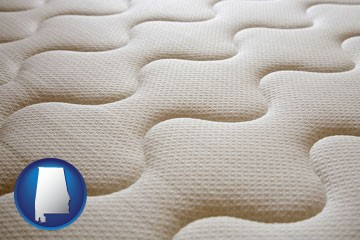 a mattress surface - with Alabama icon